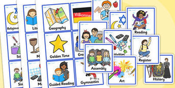 KS1 Visual Timetable - Visual Timetable, SEN, Daily Timetable, School Day, Daily Activities, Daily Routine KS1, Foundation Stage | Resources for Individual Needs students | Scoop.it