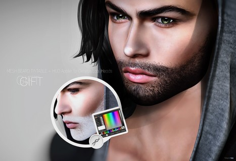 Mesh Tintable Beard Modify HUD October 2016 Shiny Shabby Gift by Genesis Lab | Teleport Hub - Second Life Freebies | Second Life Freebies | Scoop.it