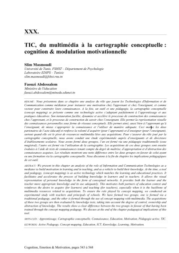 TIC,  du  multim&eacute;dia  &agrave;  la  cartographie  conceptuelle : <br/>cognition &amp; modulation motivationnelle | Classemapping | Scoop.it