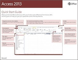 Access 2013 Quick Start Guide - support | Microsoft Access Training | Scoop.it