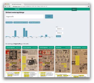 KB lanserar ny söktjänst för forskning i digitaliserade dagstidningar | Skolbiblioteket och lärande | Scoop.it