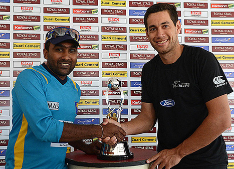 Photo: Captains pose with Test series trophy | Sri Lanka Cricket | Scoop.it