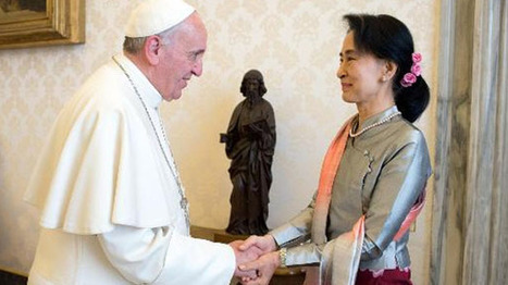 Pope Francis meets with Myanmar's famed dissident Aung San Suu Kyi - Raw Story | Myanmar | Scoop.it