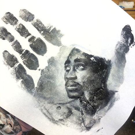 Russell peint des portraits éphémères sur ses mains afin de les transposer pour l'éternité sur une feuille | Instantanés | Scoop.it