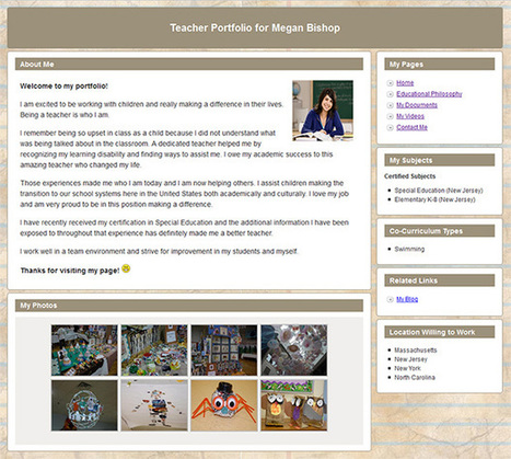 Portfoliogen - Create a Free Customized Teacher Portfolio Webpage in Minutes! | Education & IT | Scoop.it