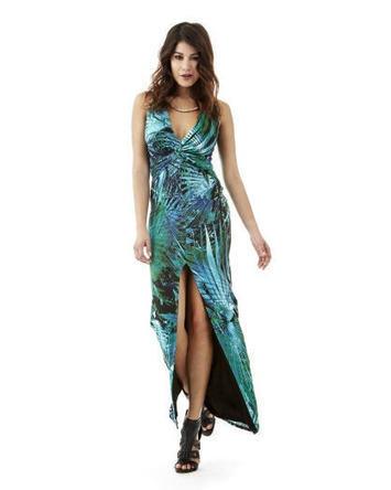 Palm Viscose Long Dress Guess - Robe Femme Guess | Code promo et Bon de reduction Ventes pas cher | Scoop.it