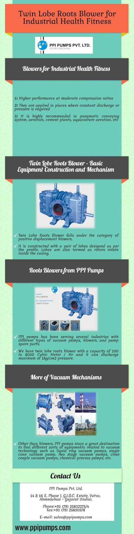 Twin Lobe Roots Blower for Industrial Health Fitness | PPI Pumps Pvt. Ltd. | Scoop.it
