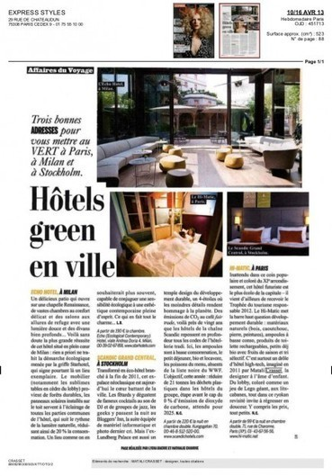 HI MATIC in L'EXPRESS STYLES | Design, Hôtel écologique, and ... | Eco Architectures | Scoop.it