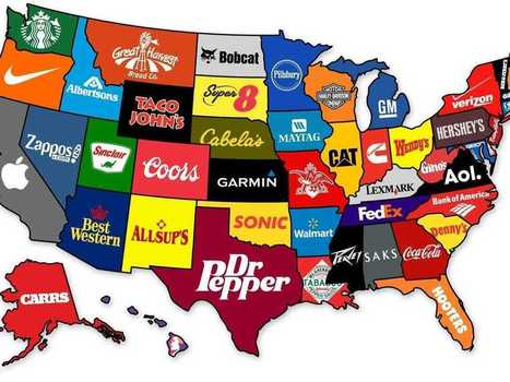 This Map Shows The Most Famous Brand From Every State | Analytics & Data Visualization | Scoop.it