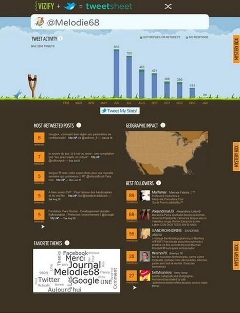 Pratique : Tweetsheet, votre compte Twitter dans une infographie | Méli-mélo de Melodie68 | Scoop.it