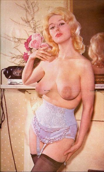 Vintage Topless in Ruffled Waist-Cincher with Garters | Lingerie Love | Scoop.it