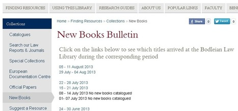 See what they're buying at the Bod - Bodleian Law Library New Books Bulletin | Law Bod Blog | Library Collaboration | Scoop.it