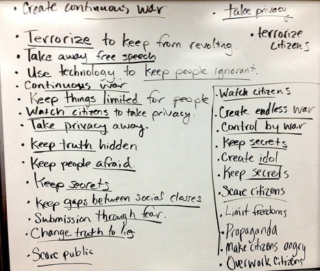 3 essential requirements for an oppressive society (Notes from student drawings/Paper53)   1984: EdTech examples   Scoop.it
