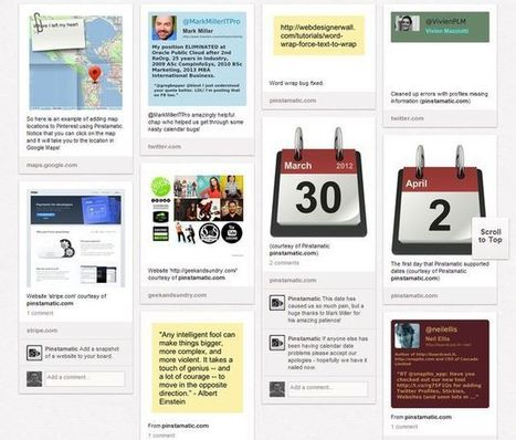 Pinstamatic: publica sitios web, notas post-it, fechas, ubicaciones o tweets en Pinterest   oliviermarchand.es   Scoop.it