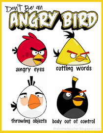 The Home Teacher: Don't Be An Angry Bird: Free Printables | 10kmk42links | Scoop.it