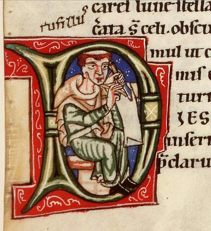 Erik Kwakkel • Medieval selfie Speaking of a freak coincidence,...   Medieval Manuscripts   Medieval Palaeography   Scoop.it