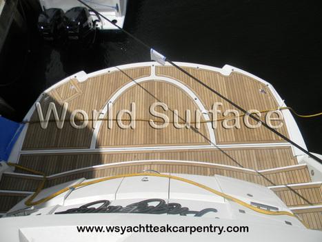 Teak Decking Installation on a 100′ Sunseeker by World Surface, Inc. | World Surface | Teak Decking | Scoop.it