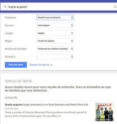 Comment améliorer sa veille avec Google Alertes ! | Animation Numérique de Territoire | Scoop.it