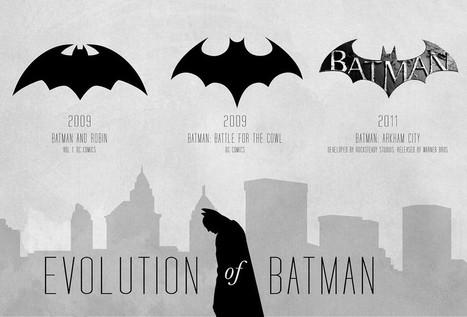 72 Years of the Batman Logo -Infographic - News - GeekTyrant | Visualisation | Scoop.it