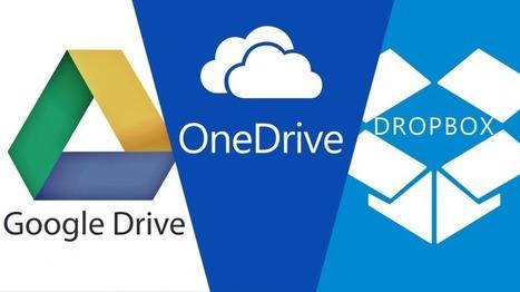Almacenamiento en la nube: Google Drive vs Dropbox vs Onedrive | TIC - Recull de consells i recursos | Scoop.it