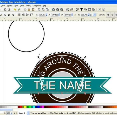 How to create a Vintage style Logo in Inkscape | inkscape | Scoop.it