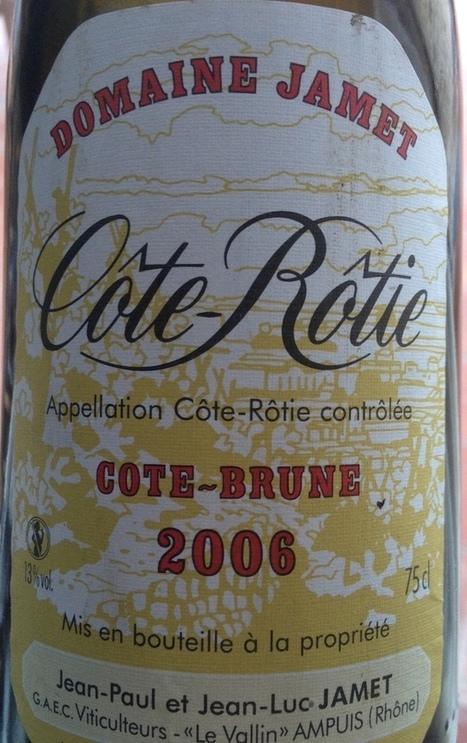 Jamet - Cote Rotie Cote Brune 2006 - vin-en20. | oenologie en pays viennois | Scoop.it