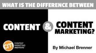 The Difference Between Content and Content Marketing | Surviving Social Chaos | Scoop.it