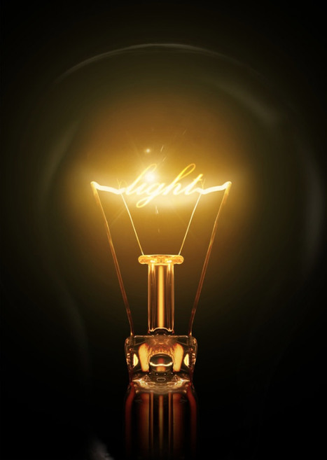 Create a light bulb text effect in Photoshop | The Official Photoshop Roadmap Journal | Scoop.it