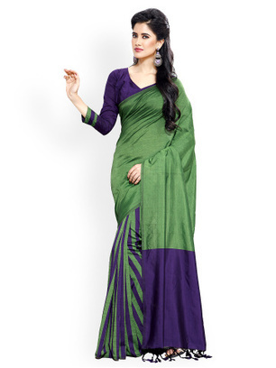 20% off on Ishin Green Cotton Traditional Saree at Myntra | Online Shopping |  Best Deals | Coupons | Scoop.it