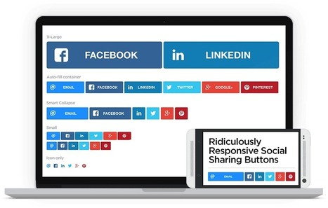 Responsive Social Sharing Buttons Built with SASS | WordPress and Web Design | Scoop.it