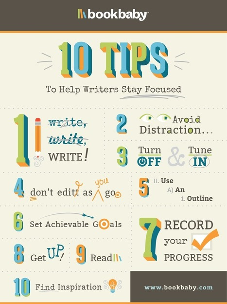 10 Tips to help writers stay focused   BookBaby Blog   writing and publishing   Scoop.it