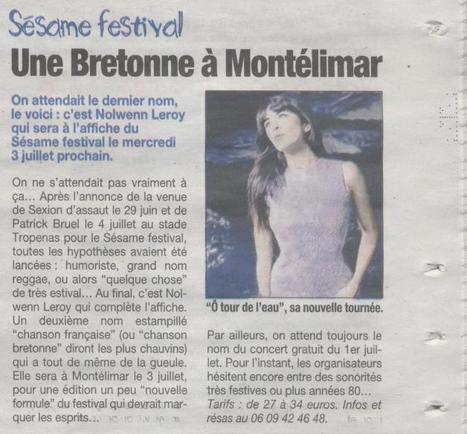 Article paru le 14 mars dans La Tribune | Montélimar Agglo Festival 2014 | Scoop.it