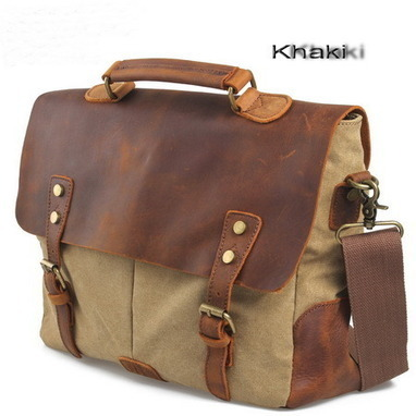 Functional laptop briefcase satchels shoulder handbags from Vintage rugged canvas bags | personalized canvas messenger bags and backpack | Scoop.it