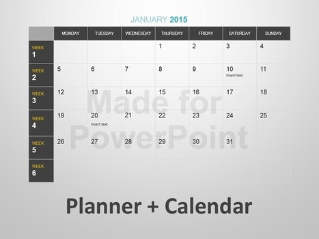 Planner + Calendar Template for PowerPoint Presentation | Editable & Ready-to-use PPT slides (information, maps, graphs, data) | Scoop.it