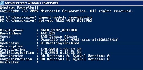 The top five Group Policy PowerShell commands | PowerShell | Scoop.it
