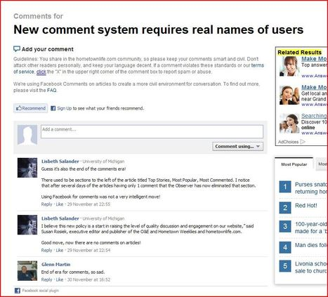 New comment system requires real names of users | Persistent Identity | Scoop.it