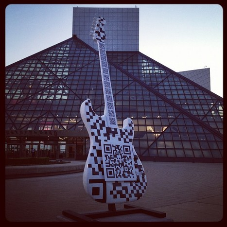 Awesome QRcode guitar at the Rock Hall ! | artcode | Scoop.it