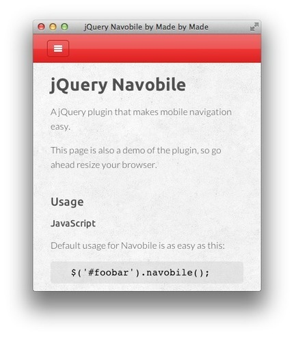 jQuery Navobile   programming...tips...and issues...   Scoop.it
