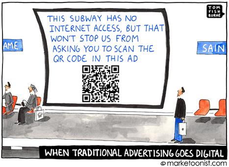 """When Traditional Advertising Goes Digital"" cartoon | Tom Fishburne: Marketoonist | BRANDAGILE | Scoop.it"