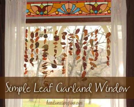 Simple Leaf Window Garland   hands on : as we grow   Kindergarten   Scoop.it
