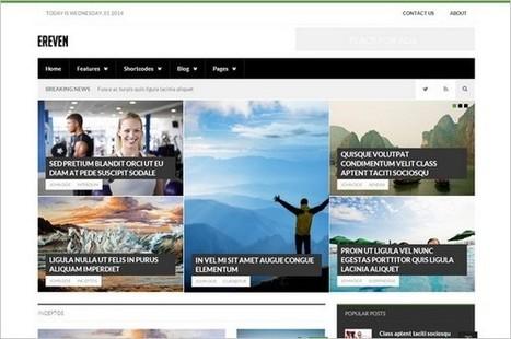 10 New WordPress Themes for Magazines and News Sites | Free & Premium WordPress Themes | Scoop.it