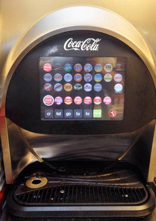 coca cola touch screen machine price