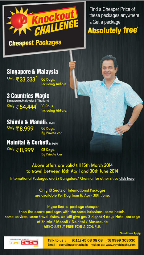 Travelchacha /Knockout Offer   India Tour Packages   Scoop.it