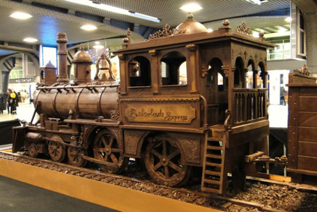 Train Made Entirely Out Of Chocolate | Sizzlin' News | Scoop.it
