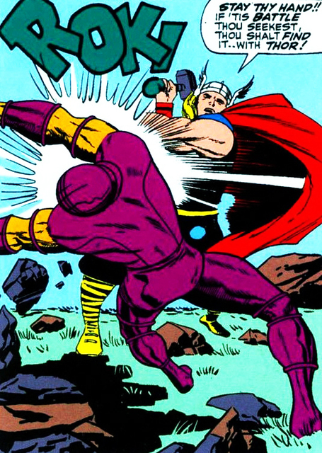 "withgreatpowercomesgreatcomics: The Mighty Thor... | Mercalicious, Bitch! Please enjoy. | Jack ""King"" Kirby 