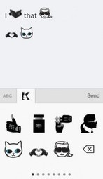 EmotiKarl, une application de smileys par Karl Lagerfeld : Veille du Brand Content | Brand & Content Experience | Scoop.it
