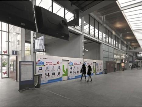 Les 'shopping walls' se développent dans les gares | Mobile & Magasins | Scoop.it