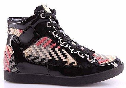 Scarpe Sneakers Alta Donna LIU JO Nero Sneaker Alta Cybille Pelle Tessuto Nuove su www.kellieshop.com | kellieshopsales | Scoop.it