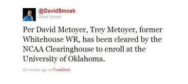 Five star wide receiver Trey Metoyer is finally a Sooner | Sooner4OU | Scoop.it