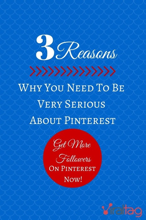 Get More Followers on Pinterest Now: 3 Reasons Why You Need To Be Very Serious About Pinterest | Viraltag Blog | Get More Followers on Pinterest Now: 3 Reasons Why You Need To Be Very Serious About... | Pinterest | Scoop.it